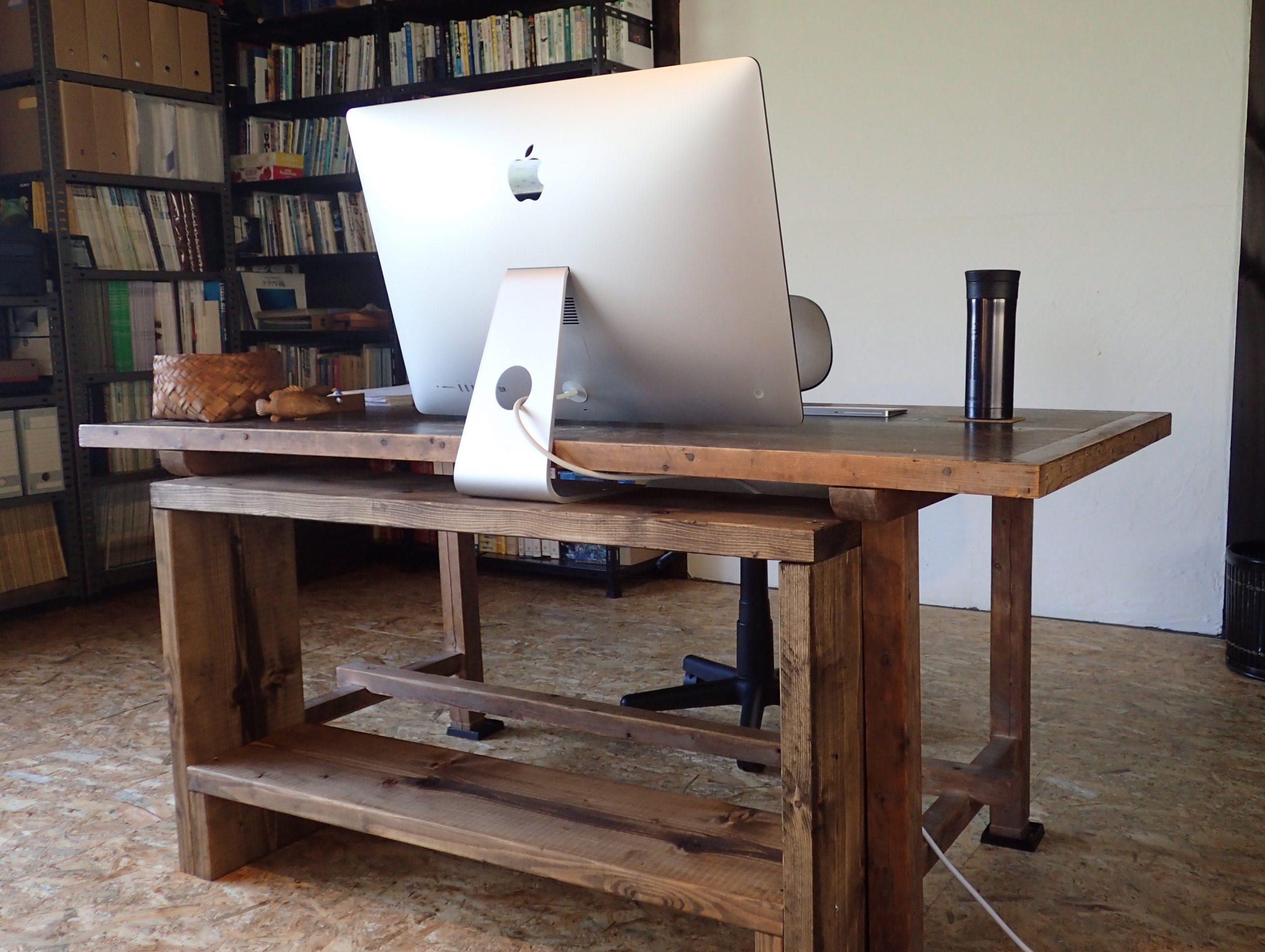 DIYで作ったiMac台